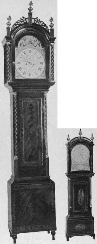 Miniature-Clock-and-Tall-Clock-about-1800